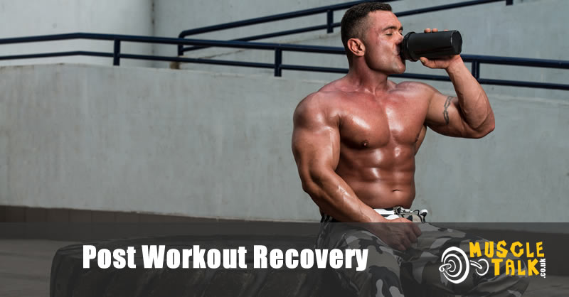 Post Workout Recovery - Bodybuilder Resting