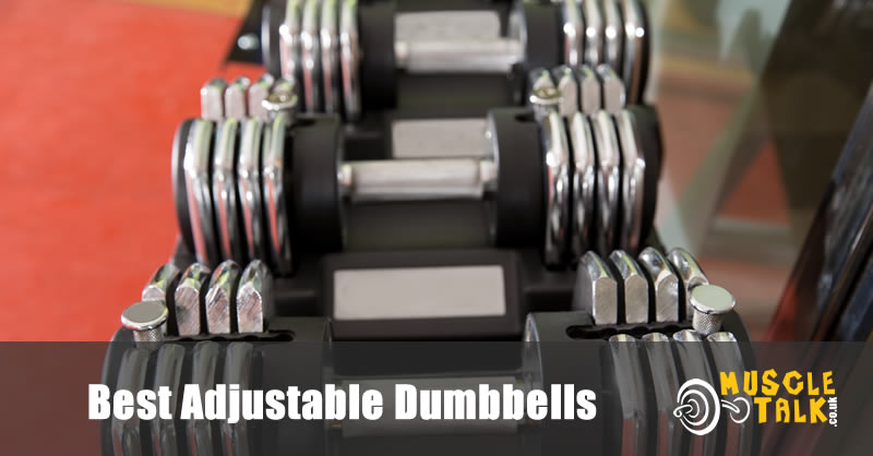 Adjustable dumbbells on a stand