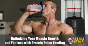 Bodybuilder having protein shake after workout