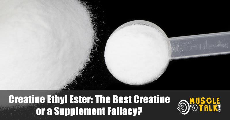 Creatine Ethyl Ester powder with scoop