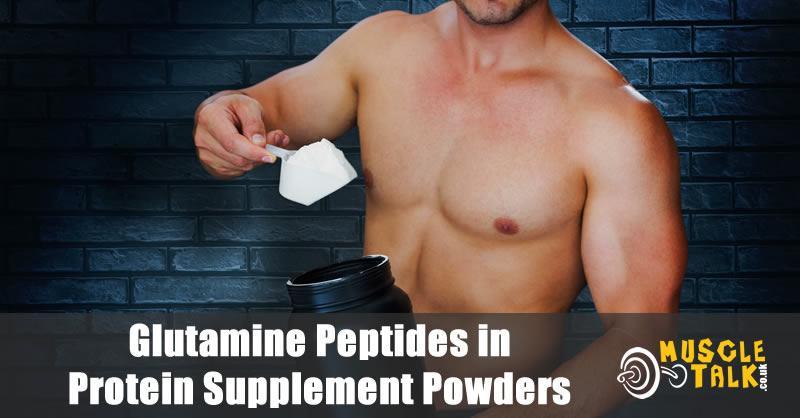 Man with protein powder containing glutamine