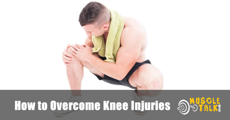 Bodybuilder with injured knee