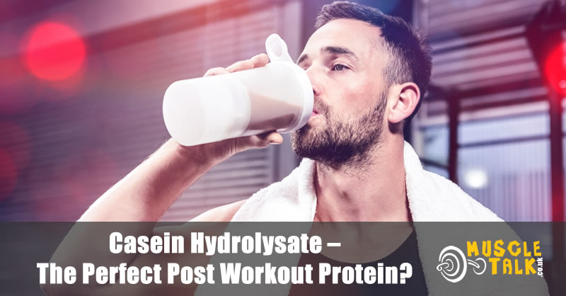 Man taking protein after his workout