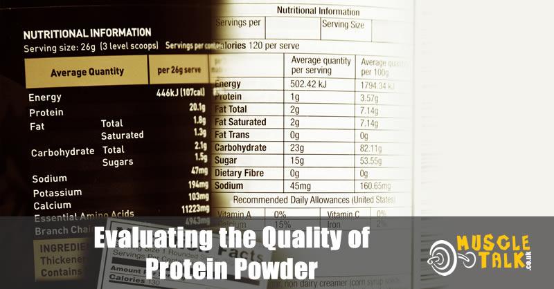 Protein powder supplement labels