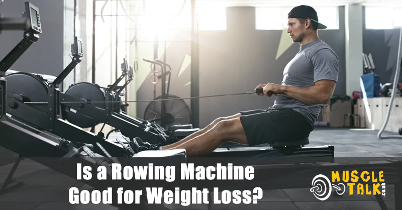Man using a rowing machine