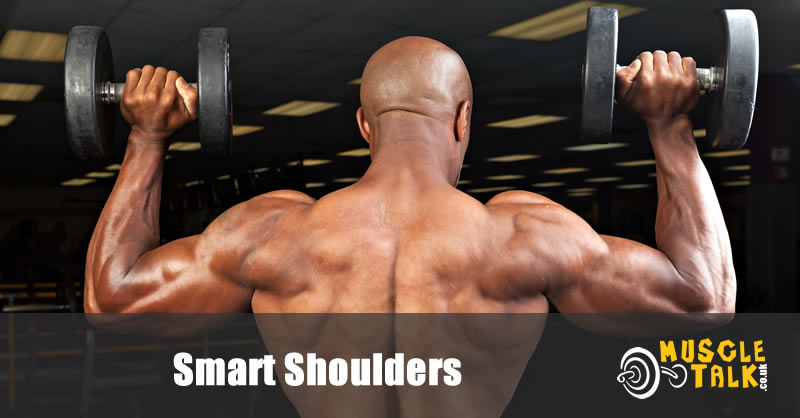 Training shoulders with dumbbells