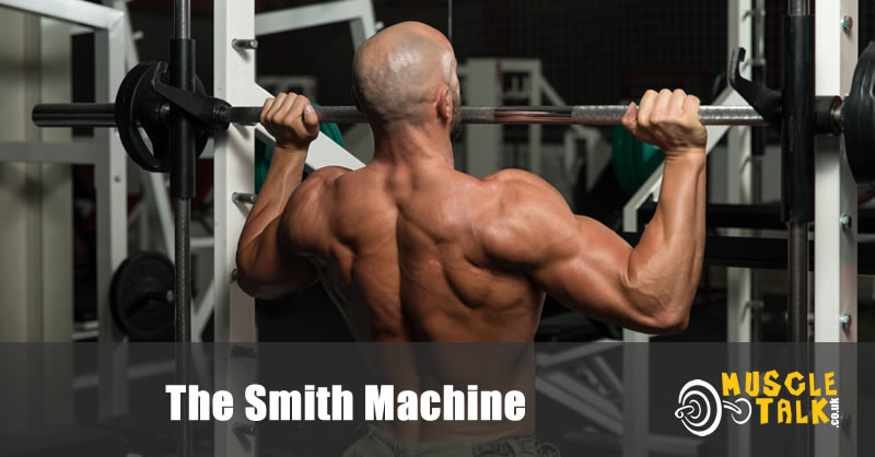 Man using a Smith Machine on his own