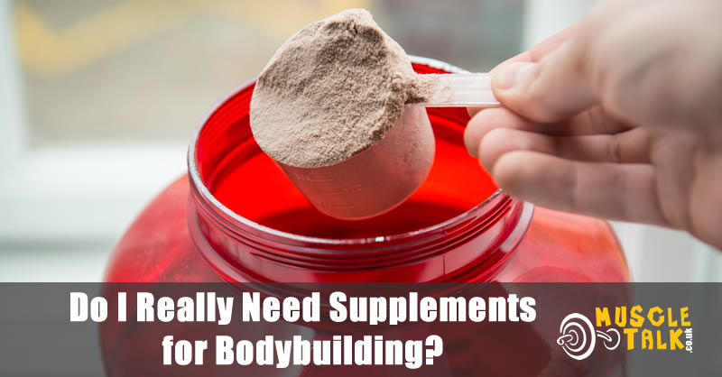 Taking a scoop of a bodybuilding supplement