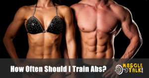 fitness couple with great abs