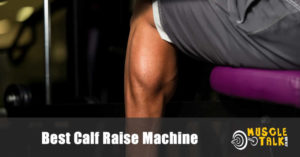 Man doing calf raises to improve his calves