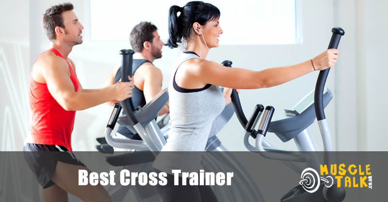 Cross trainers being used