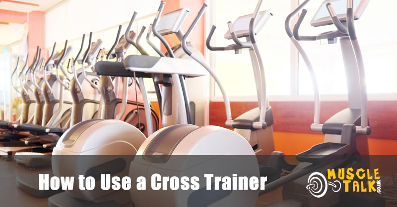 Row of cross trainers in a gym