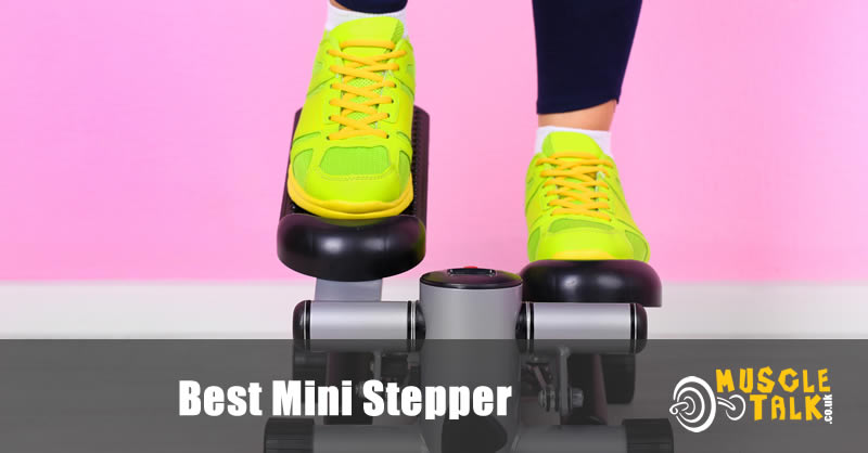 Someone training on a mini stepper