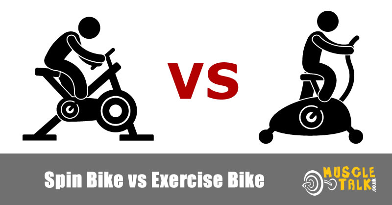 Comparing a spin bike and a traditional exercise bike