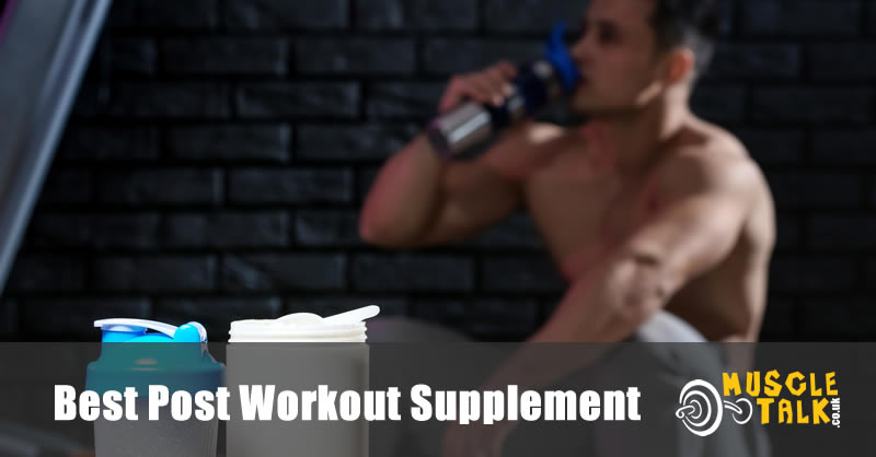 Man drinking a supplement after his workout
