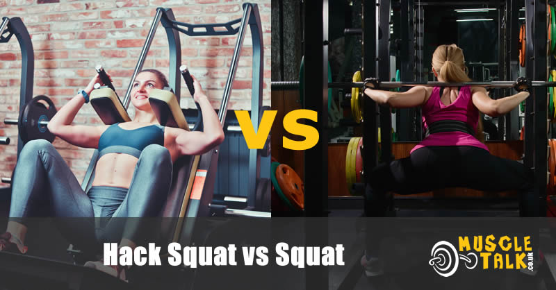 Ladies doing hack squat and a regular squat