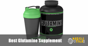 Tub of Glutamine powder