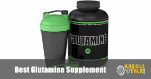 Tub of Glutamine powder