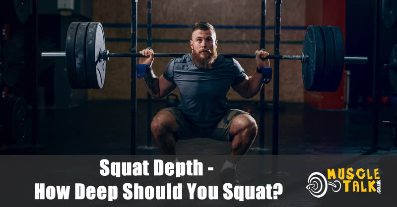 Man doing a heavy squat and going to parallel