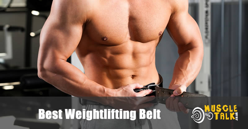Many putting on a weightlifting belt in the gym