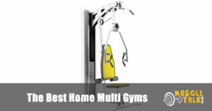 A typical home multi gym with weight stack