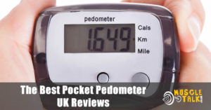 Taking a look at your progress on a handy pocket pedometer / step counter
