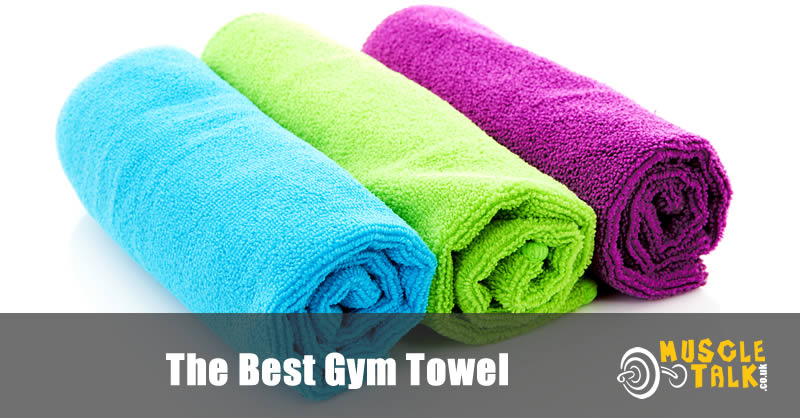 A few colourful gym towels lined up