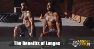 2 guys performing lunges