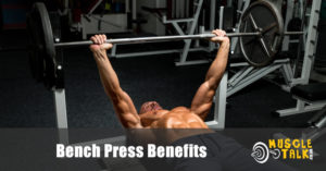 Guy doing the bench press exercise