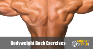 Back build partly using bodyweight exercises
