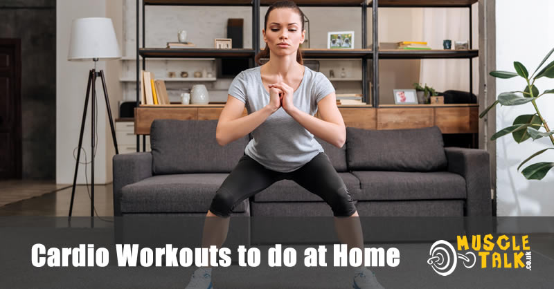 Woman doing a cardio workout at home
