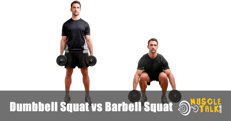 Man doing a dumbbell squat