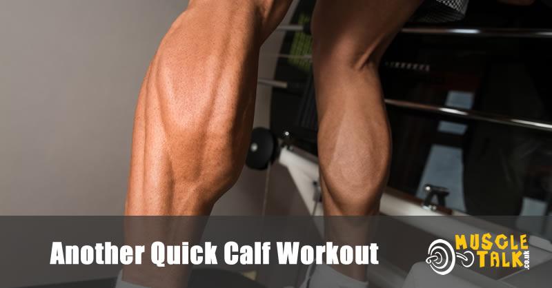 Man with big calves doing an intense but quick calf workout