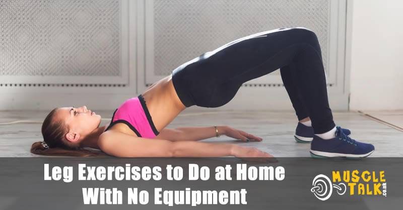 Woman training legs at home doing a two leg bridge