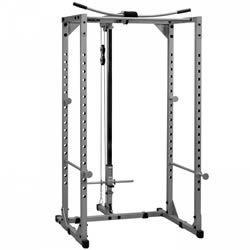 Powerline Power Rack System with Lat Attachment