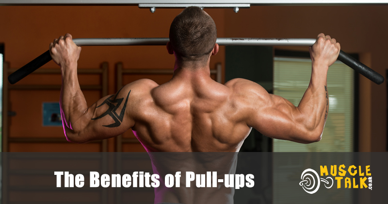 Man doing pullups in the gym