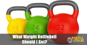 Set of kettlebells in different sizes