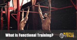 two guys doing pull-ups as part of functional training