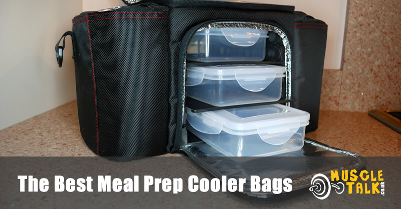 A really useful meal prep cooler bag ready to be loaded with food