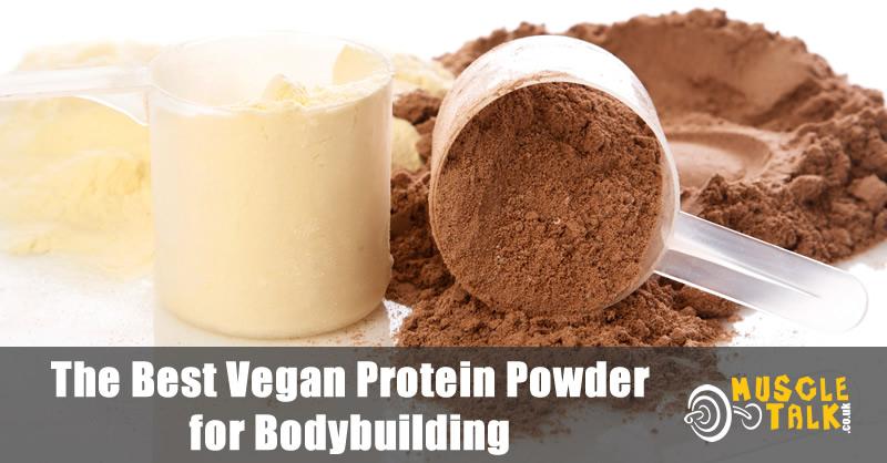 Selection of vegan protein powder