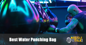 A water punching bag in action at the gym