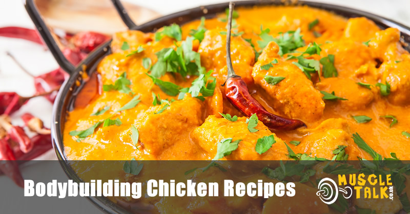 Bowl of healthy chicken curry