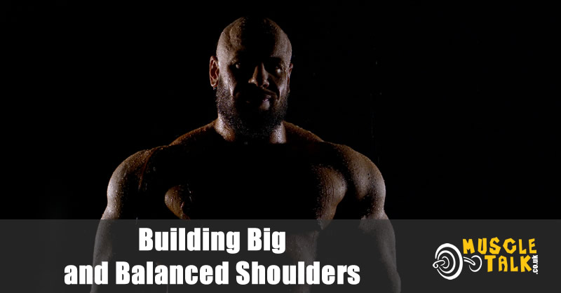 Bodybuilder with big and nicely balanced shoulders