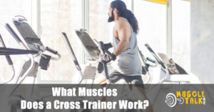 Man using a cross trainer and working most of the major muscle groups