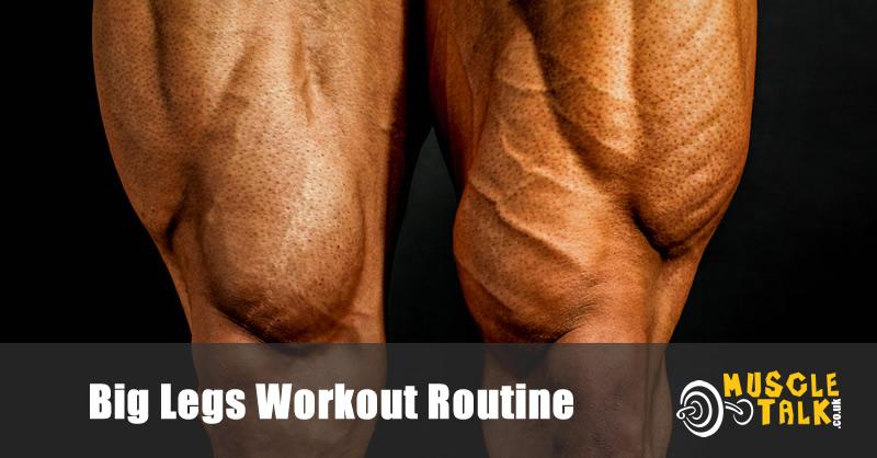Big legs of a bodybuilder